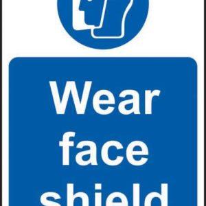 Wear Face Shield Sign, Self Adhesive Vinyl (200 X 300mm)