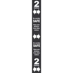 Floor Distance Marker – Black PVC LAM (800 X 100mm)