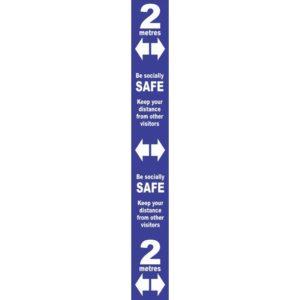 Floor Distance Marker – Blue PVC LAM (800 X 100mm)