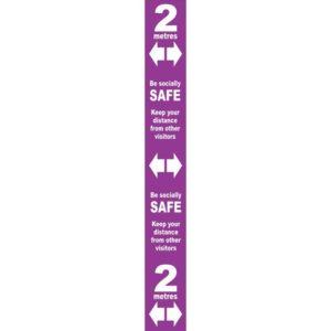 Floor Distance Marker – Purple PVC LAM (800 X 100mm)