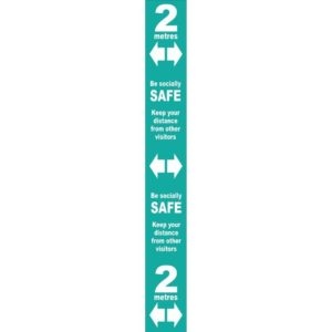 Floor Distance Marker – Turquoise PVC LAM (800 X 100mm)
