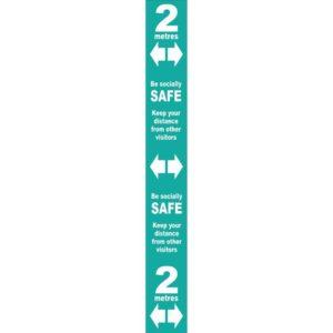 Floor Distance Marker – Turquoise SAV LAM (800 X 100mm)