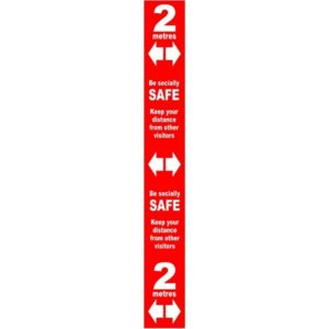 Floor Distance Marker – Red PVC LAM (800 X 100mm)