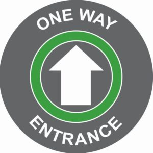 One Way Entrance Floor Graphic (400mm)