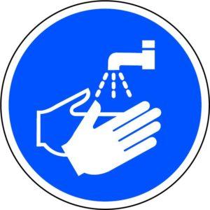 Wash Hands Floor Graphic (400mm Dia.)