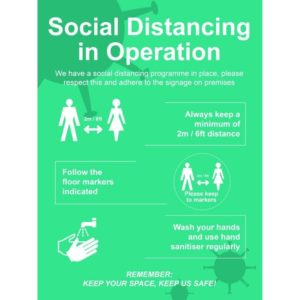 Social Distancing In Operation – FMX (600 X 800mm)
