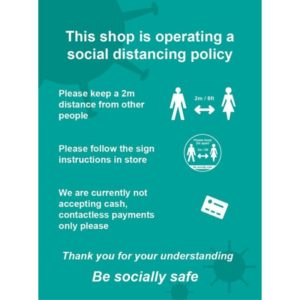 This Shop Is Operating A Social Distancing Policy A – CLG (300 X 400mm)