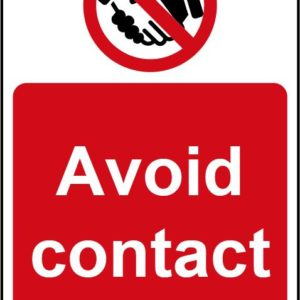 Avoid Contact Self Adhesive Wall Sign (200 X 300mm)