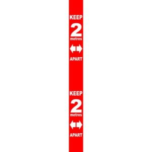 Wall Distance Marker – Red PVC (800 X 75mm)