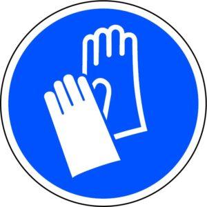 Wear Gloves Floor Graphic (200mm Dia.)