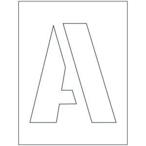 200mm Letter Stencil Kit