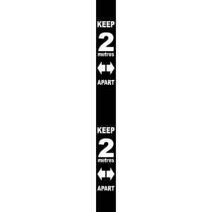 Wall Distance Marker – Black PVC (800 X 75mm)