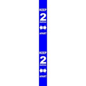 Wall Distance Marker – Blue PVC (800 X 75mm)