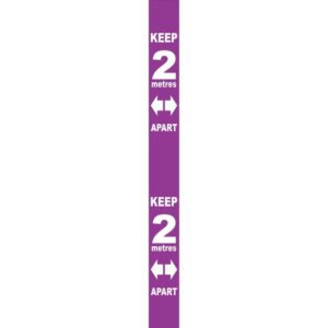 Wall Distance Marker – Purple PVC (800 X 75mm)