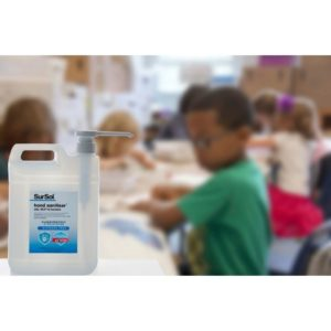 SurSol None Alcohol Hand Sanitiser 1L Pack Of 5