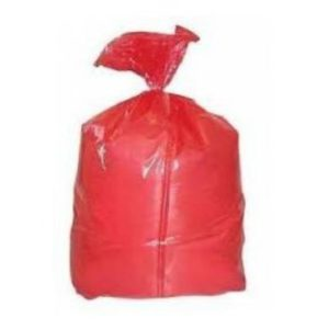 RED SOLUBLE STRIP LAUNDRY SACKS – FOR SAFE HANDLING OF INFECTED/CONTAMINATED WASHING – BOX OF 200